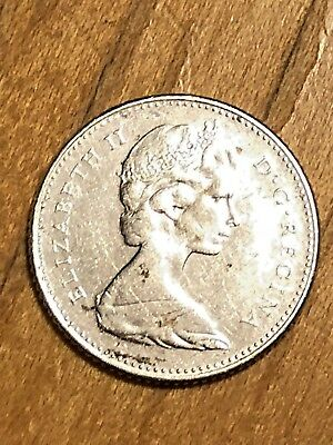 Silver 10 Cent - Elizabeth II 1867-1967 Canadian Dime - Circulated.