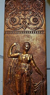 Very Beautiful Large Old Fireside Plaque - Neoclassical Maiden - Very Rare L@@k