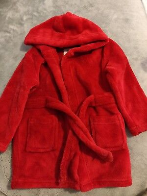 baby boy red dressing gown 12-18 months