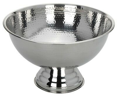 Beaten Dot Stainless Steel Party Punch Bowl Champagne Wine Beer Cool Ice Bucket