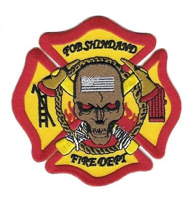 USAF FOB Shindand Air Base AFGHANISTAN Fire Dept. patch - NEW! *SKULL*