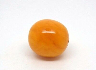 ANTIQUE Genuine BALTIC Real AMBER Red Butterscotch egg yolk bead  2.1 gram 老琥珀