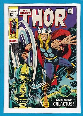 "Mighty Thor #160_January 1969_Very Fine_""and Now...galactus""_Silver Age Marvel!"