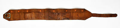 Gold Mining Antique Money Belt Punched Leather Currency Coin Miner Prospecting