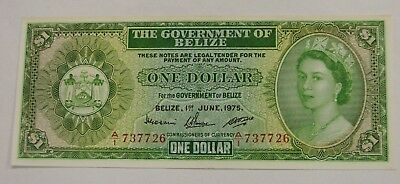 Belize - 1975 - $1 Bank Note - Pick-33b - AU/UNC