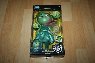 Disney Pixar Inside Out Deluxe Talking Disgust Action Figure Doll (New)