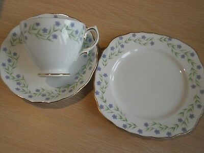 Royal Vale Bone China  Cup ,saucer, T Plate. Pretty Design. Ex Cond.