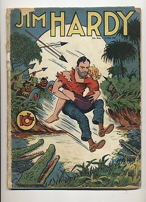 Jim Hardy Single Series #27 Fa/g 1942 Tape Inside Cover At Spine Cover Detached