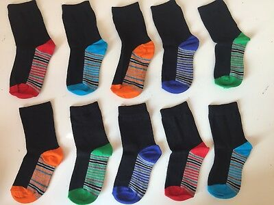 10 Pairs kids socks KIDS/BOYS/CHILDREN'S COTTON RICH SCHOOL Years 6-9 GPRV