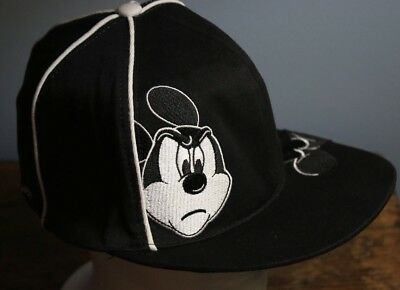 37b3c971 MICKEY MOUSE HAT 2 Faces Walt Disney World Embroidered Black White Red