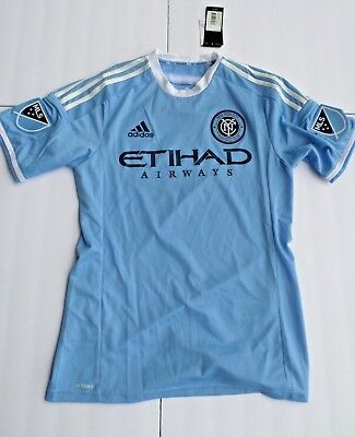 3896875eb4b Adidas MLS New York City NYCFC Football Men s Authentic Soccer Jersey Men s  M