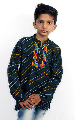 Kurta Boys Baby Cotton Navratri Diwali Bollywood Party wear Indian Garba Asian