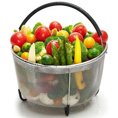 6qt Steamer Basket Compatible w/ Instant Pot Accessories or Any Large Pot