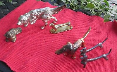 ~~**  Lot of 6 Dogs- Many Breeds- Metal/Cast Iron/ Copper Paperweight  **~~