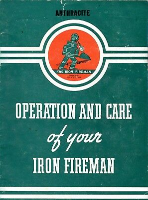 Vintage Operation and Care of your Iron Fireman Furnace 1940 Robot Owners Manual