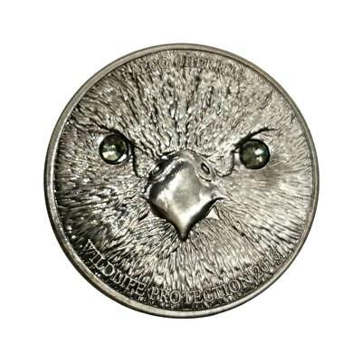 Mongolian Owl Round Iron Alloy Commemorative Coin Collection Gift