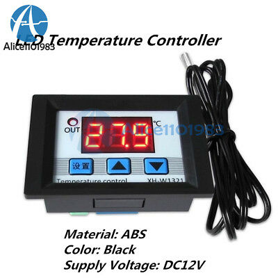 Digital DC12V LED Temperature Controller 10A Thermostat Control Switch Probe