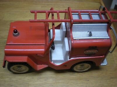 Rare Vintage Tonka No 425 Jeep Pumper Fire Truck  In Great Condition