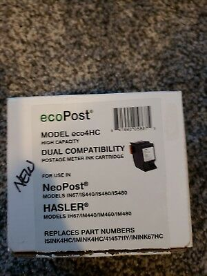 ecoPost ECO4HC NeoPost Compatible Red Ink Cartridge Replacement for Hasler Meter