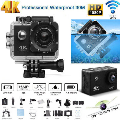Ultra 4K Waterproof DVR Sports Action Camera WiFi Cam DV Record Camcorder GoPro