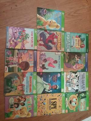 Lot Of Leapfrog Leap Frog Tag Books Hardcover Disney I Spy Tinkerbell Click Moo
