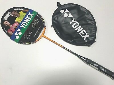 New Yonex Nanoray 3 Orange Badminton Racket Light Weight Max Power + Free Grip