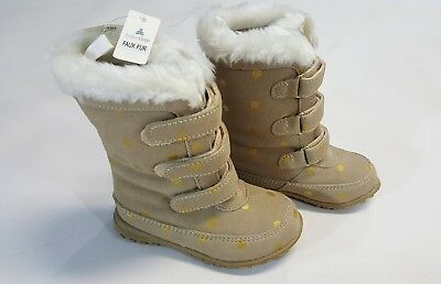 48d526918 NWT BABY GAP Toddler Girls Size 6 8 9 or 10 Faux Fur Polka Dot Winter Boots