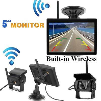 """Wireless IR Rear View Backup Camera Night Vision + 7"""" Monitor For RV Truck Bus"""