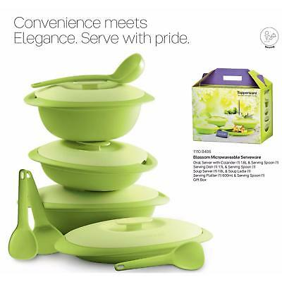 New Tupperware Brands Blossom Microwaveable Serveware Set Of 4 (13 Pcs)