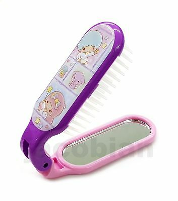 Sanrio Little Twin Stars Folding Hair Brush Comb with Mirror with tracking no.