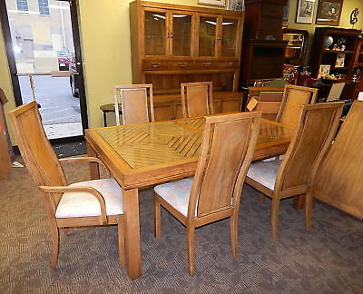 Mid Century Modern Thomasville Dining Room Table Chair Cabinet Hutch Set