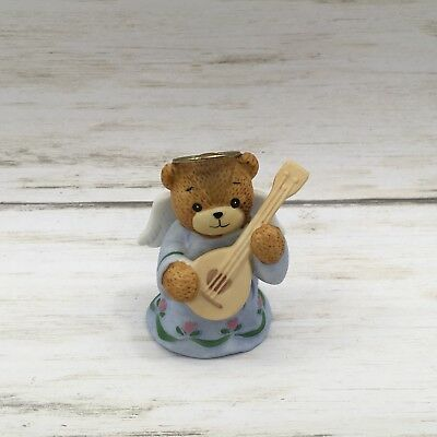 Vintage 1984 Enesco Teddy Bear Angel Lucy Rigg Figurine Lucy & Me Instrument