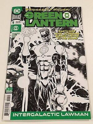 Green Lantern #1, Liam Sharp Midnight Release B & W sketch variant cover - 2018