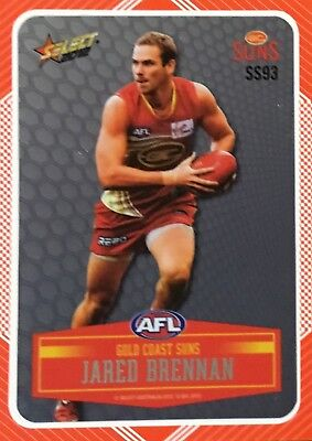 2012 Afl Select Champions Gold Coast Suns Jared Brennan Laser Sticker Ss93 Card