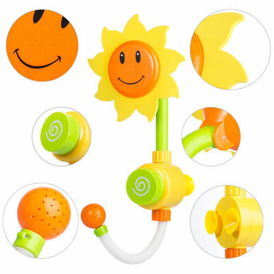 Tera Sunflower Baby Bath Water Shower Spray Bathing Tub Fountain Early Education