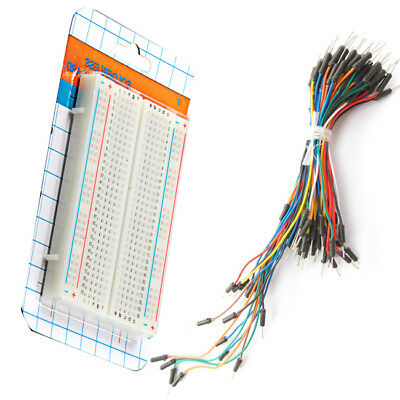 New Prototype Board Electronic Deck + 65 Breadboard Tie Line Wire Cable