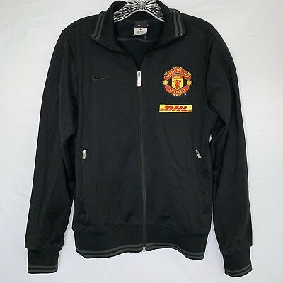95c2613fdc61 Men s Nike Manchester United DHL Track Jacket Coat Football Soccer Black  Size S