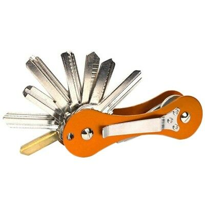 Aluminium Smart Key Holder Organizer Clip Folder Keychain Keyring like KeySmart