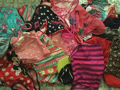 Joblot Of Childrens Swimwear, Top Bottoms Swimsuits All In Ones Over 30 Items