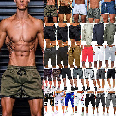 Men Casual Short Pants Board Shorts Gym Running Training Sports Summer Trousers