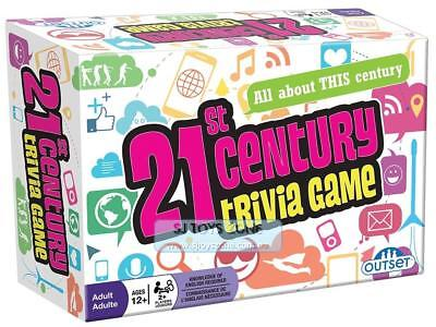 Outset 21st Century Trivia Card Game - Family and Party Board Game