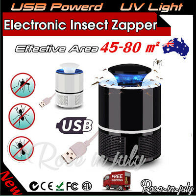 Electronic Mosquito Killer Bug Zapper Trap LED Light USB Power Insect Catcher RO