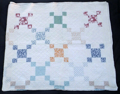 Hand Made Amish Style Cotton Patchwork Quilt King Size