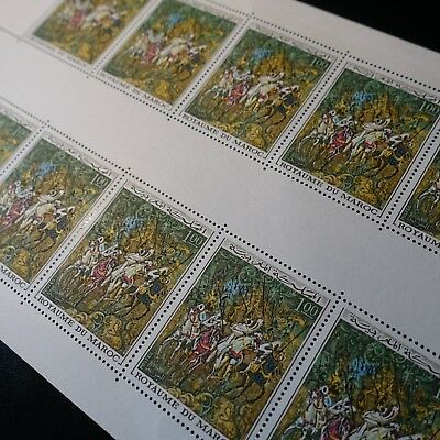 MOROCCO MOROCCO FEUILLE SHEET N°597 x10 NEUF LUXE MNH (FOLD) VALUE
