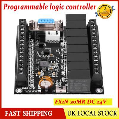 24V PLC Regulator FX1N-20MR Industrial Control Board Programmable Controller UK