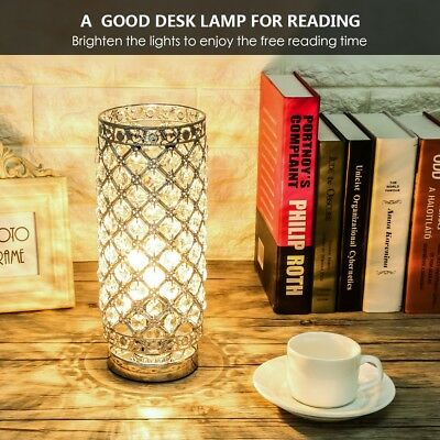 Crystal Table Lamp Ejoyous Bedrooms Nightstand Light Lamp w/176 Pcs K9 Crystals