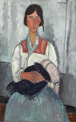 GYPSY WOMAN WITH BABY by Amedeo Modigliani - Matt, Glossy, Canvas Paper A4 or A3