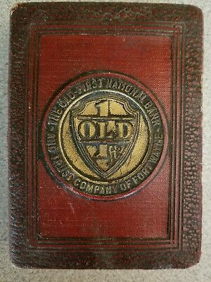"""""""BOOK OF THRIFT""""  coin bank - Fort Wayne - Old First National Bank"""