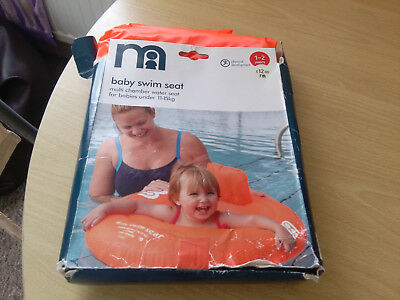 Mothercare Baby Swim Seat 1-2 Years Used Once