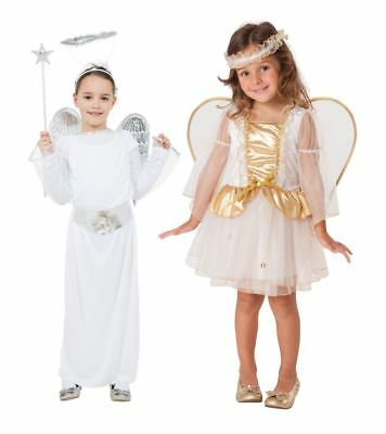 Girls Angel Costume Christmas Nativity Xmas Outfit Toddler Children Book Week